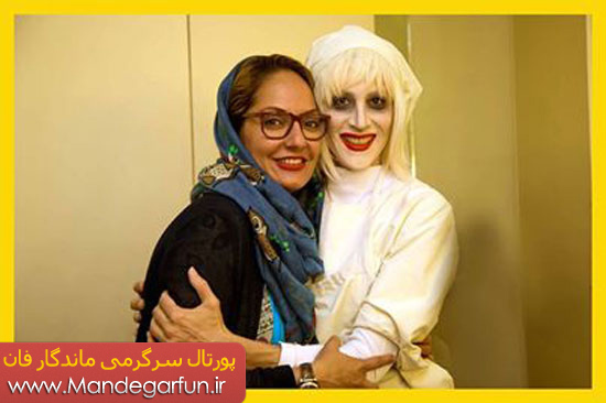 بازیگر زن ایرانی با چهره ای وحشتناک و عجیب
