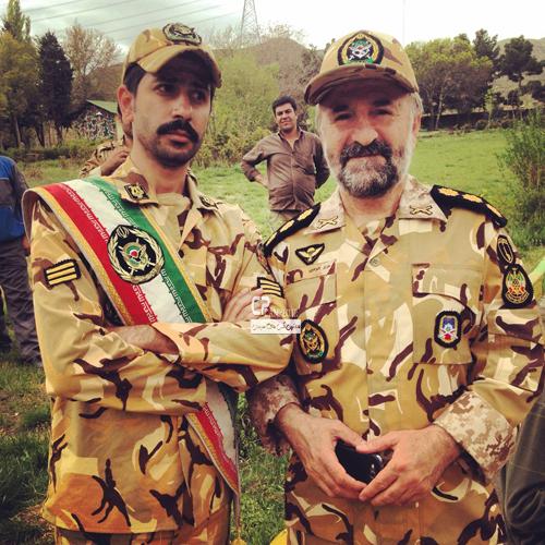 مهران رجبی در لباس نظامی+عکس