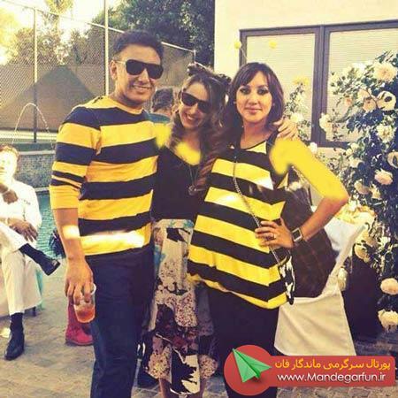 شادمهر عقیلی و همسرش در لباس زنبور (عکس)