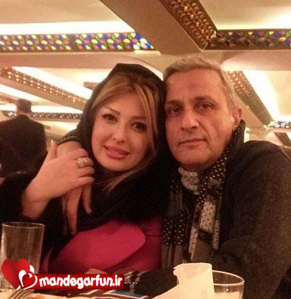 نیوشا ضیغمی با پدرش