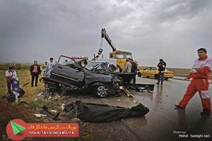 تصاویر تصادف دلخراش در جاده اردبیل