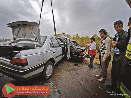 تصادف دلخراش در جاده اردبیل + تصاویر