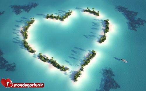 کارت پستال عاشقانه با موضوع قلب