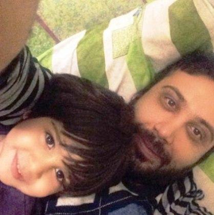 عکس  محسن چاوشی و پسرش