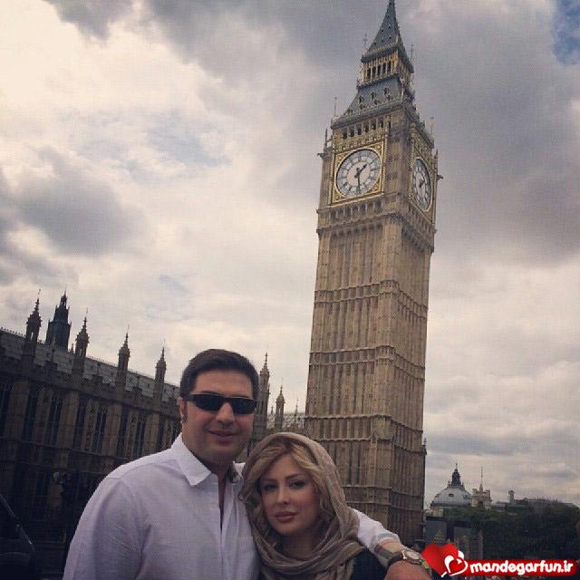 عکس جدید و جالب نیوشا ضیغمی و همسرش در لندن