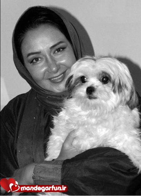 عکس کتایون ریاحی همراه با سگش