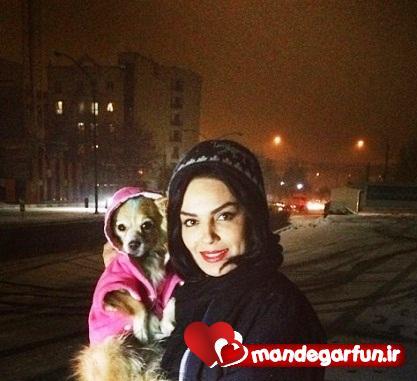 عکس جالب سارا خوئینی ها با سگش