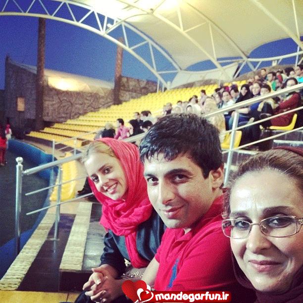 حمید گودرزی و همسرش در کیش