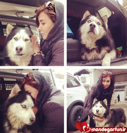 عکس جالب آنا نعمتی و سگ ترسناکش