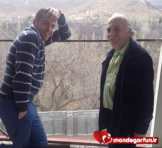 عکس جدید و جالب علی ضیاء و پدرش