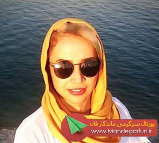 عکسی از شبنم قلی خانی در کنار دریا !