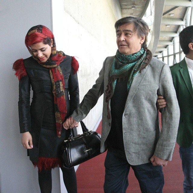 عکس دیده نشده رضا رویگری و همسرش
