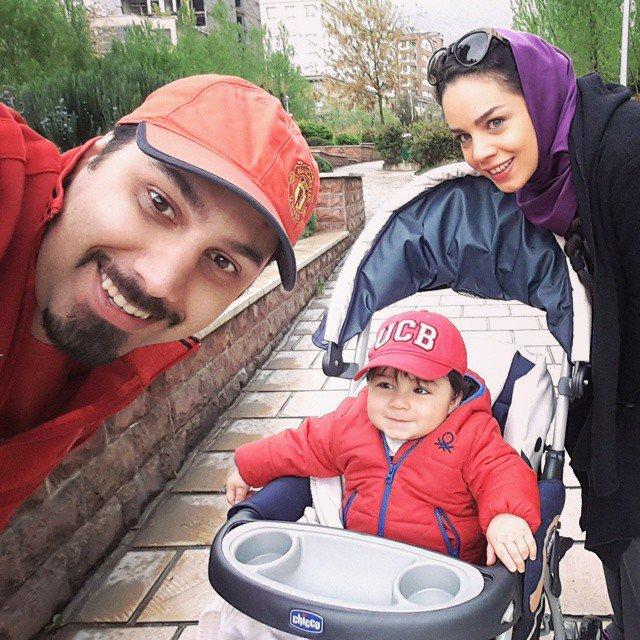 عکس جدید از خانواده احسان خواجه امیری