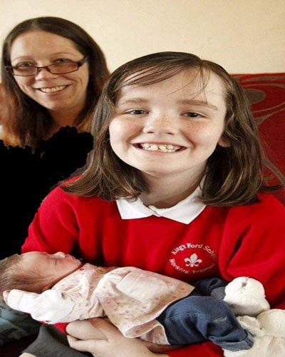 دختری 10 ساله مادر باردارش را زایمان کرد!! + عکس